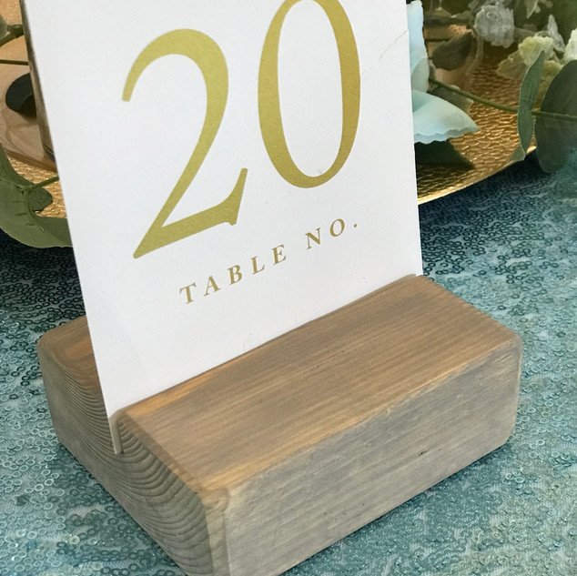 Table Number Holder - Wooden Block