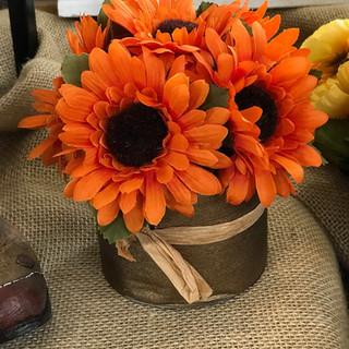 Autumn Sunflowers Orange