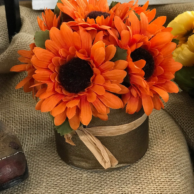 Autumn Sunflowers Orange