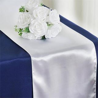 Satin Table Runner  White