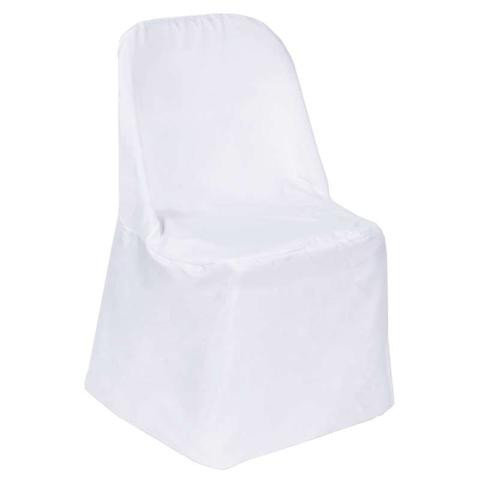 Folding Polyester Chair Cover White
