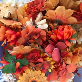 Bulk Flower Heads Orange