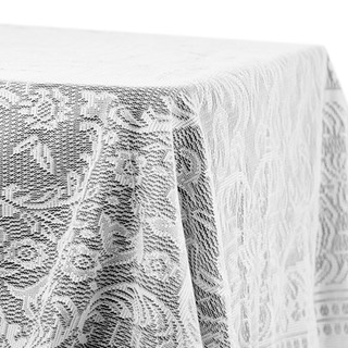 """60"""" x 120"""" Quaker Lace  Rectangle Overlay White"""