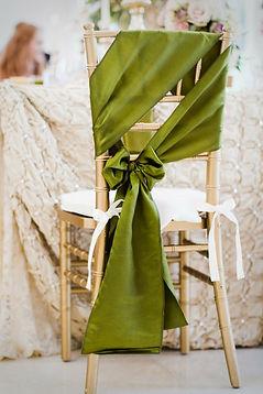Wedding Sash styling - Angle Side Bow