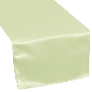 Lamour Satin Table Runner Silver Sage