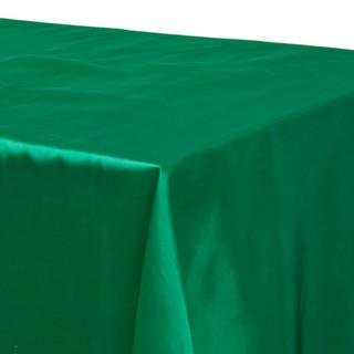 Satin Rectangle Tablecloth Emerald