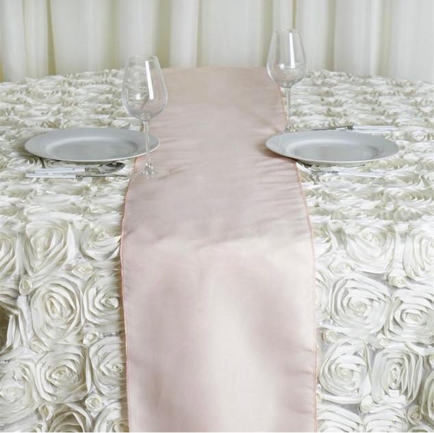 Polyester Table Runner Pale Blush