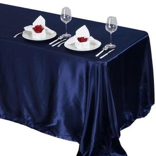Satin Rectangle Tablecloth Navy