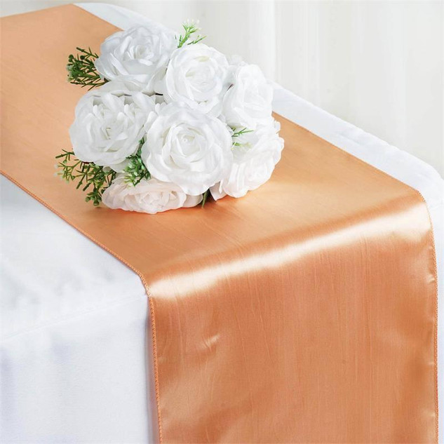 Satin Table Runner  Peach