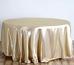 Satin Round Tablecloth Champagne