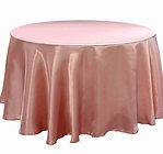 Satin Round Tablecloth Dusty Rose