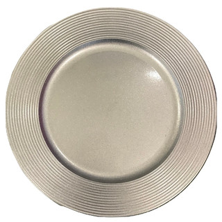 """Acrylic Silver Sparkle Charger Plate 13"""""""