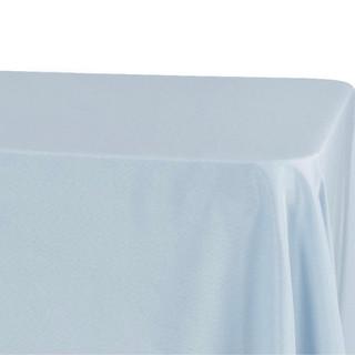 Lamour Satin Rectangle Tablecloth Dusty Blue