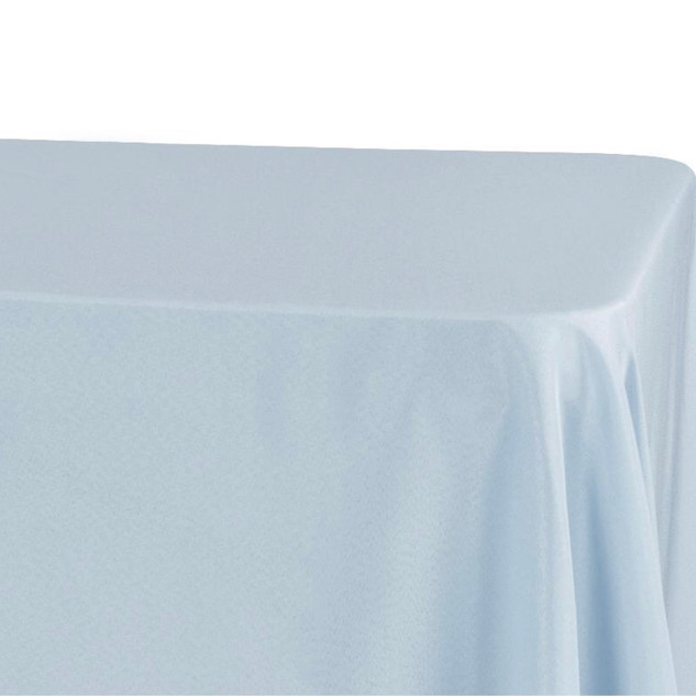 Lamour Satin Rectangle Tablecloth Dusty Blue