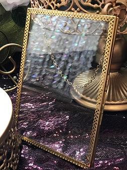 Geometric Glass Photo & Sign Holder Inse