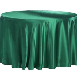 Satin Round Tablecloth Emerald