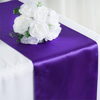 Satin Table Runner  Purple
