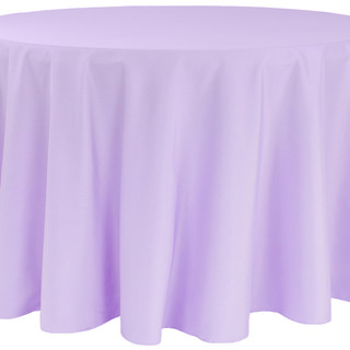 120inch Polyester Round Tablecloth Victorian Lilac