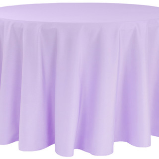 Polyester Round Tablecloth Victorian Lilac