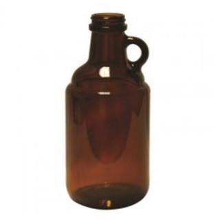 Brown Glass Growler 64oz