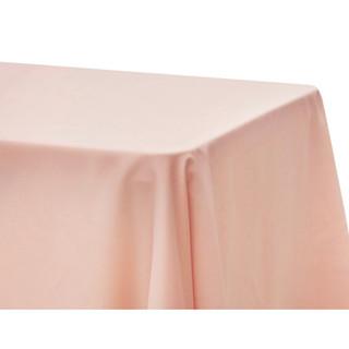 Lamour Satin Rectangle Tablecloth Blush