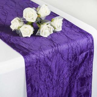 Taffeta Crinkle Runner  Purple