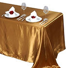 Satin Rectangle Tablecloth Gold
