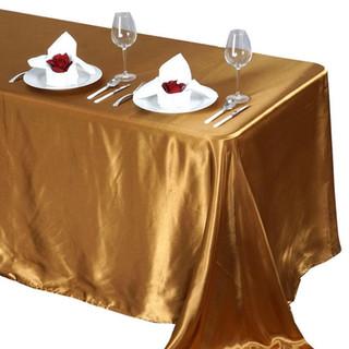 Satin Rectangle Tablecloth Gold