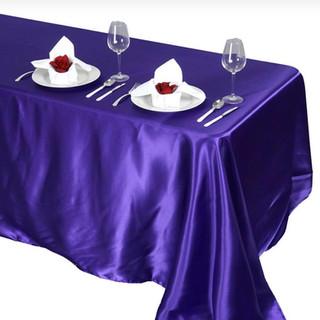 Satin Rectangle Tablecloth Purple