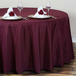 Polyester Round Tablecloth Burgundy