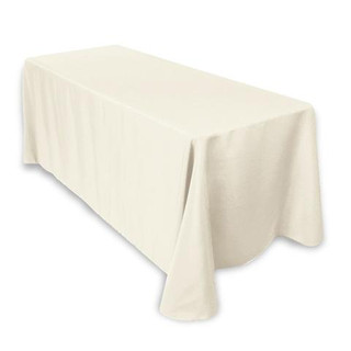 Polyester Rectangle Tablecloth Ivory
