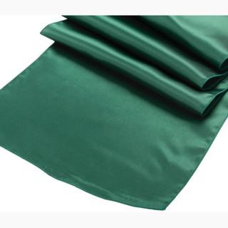 Satin Table Runner Emerald Green