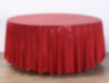 Sequin Round Tablecloth Red