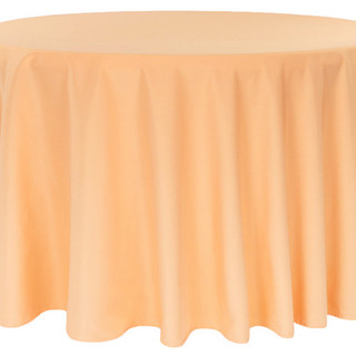 120inch Round Polyester Tablecloth - Peach