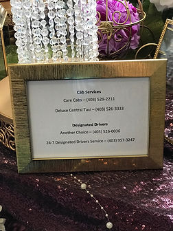Photo Frame with Local Taxi Companies Go