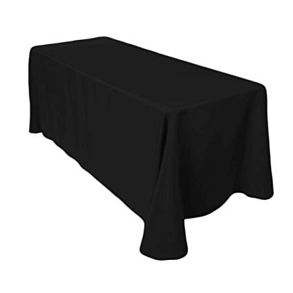 Polyester Rectangle Tablecloth Black