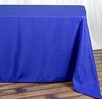 Polyester Rectangle Tablecloth Royal Blu