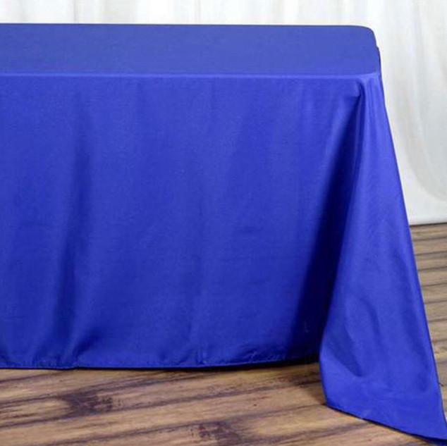 Polyester Rectangle Tablecloth Royal Blue