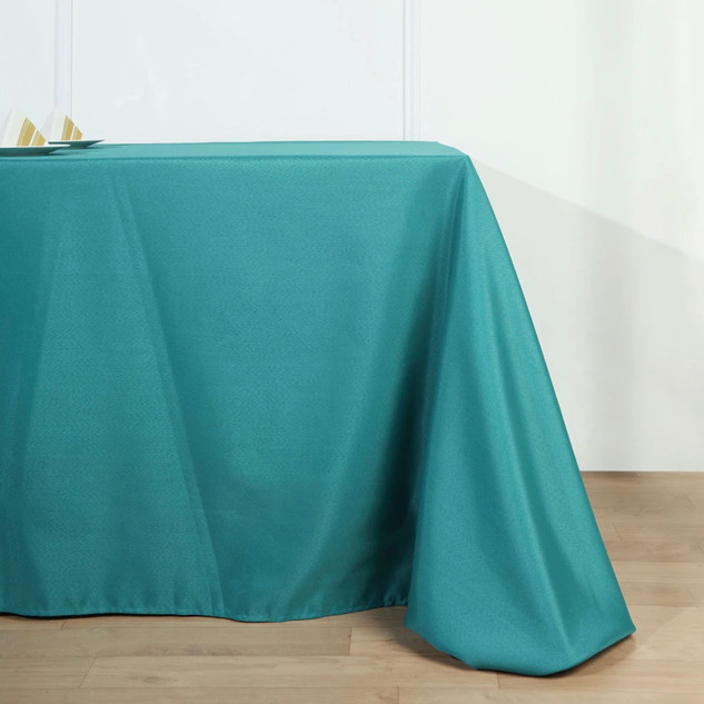 Polyester Rectangle Tablecloth Teal