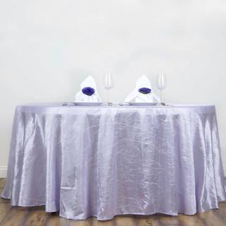 117 inch Round Crinkle Taffeta Tablecloth Lavender