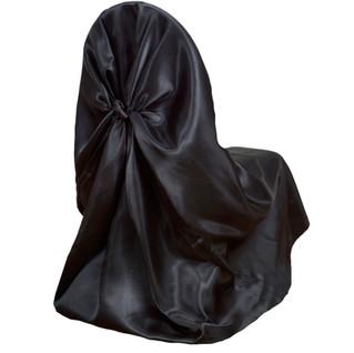 Universal Satin Chair Cover Black
