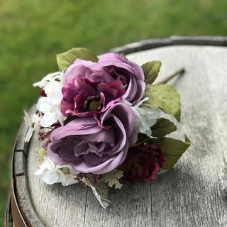 Mixed Floral Bouquet Bunch - Eggplant