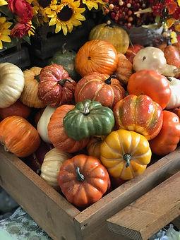 Assortment of Decorative Pumpkins & Gour
