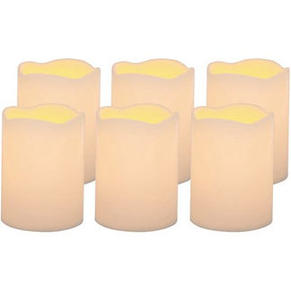 LED Lighted Flickering Pillar Candles