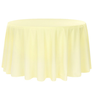 120 inch Polyester Round Tablecloth Pastel Yellow