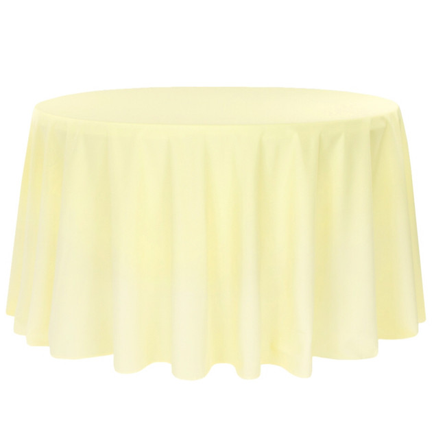 Polyester Round Tablecloth Pastel Yellow