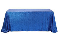 Sequin Rectangle Tablecloth Royal Blue