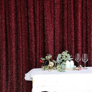 10 x 20' Metallic Backdrop Curtain Burgu