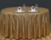 Sequin Round Tablecloth Gold