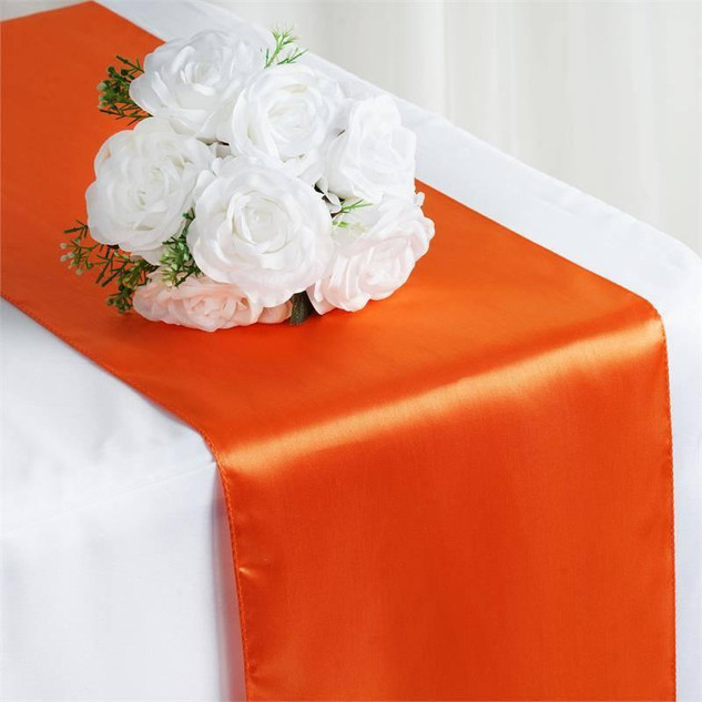 Satin Table Runner  Orange